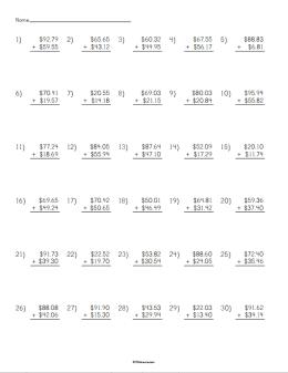 Adding Money Worksheet | STEM Sheets