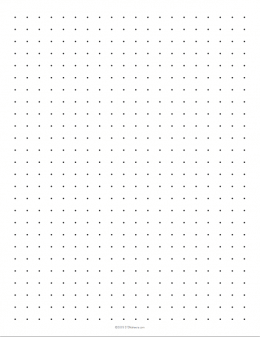 Printable Dot Paper  Graphing Paper Printable Template