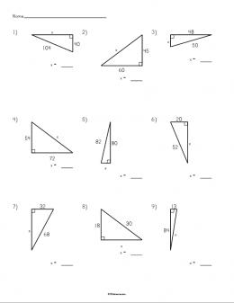 pythagorean theorem worksheet printable stem sheets. Black Bedroom Furniture Sets. Home Design Ideas