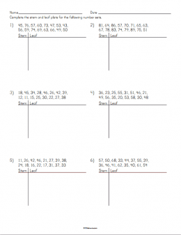 Stem and Leaf Plot Worksheet | STEM Sheets
