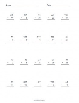 math worksheet : subtraction worksheet maker  stem sheets : Subtraction Printable Worksheets