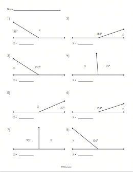 Supplementary Angles Worksheet | STEM Sheets