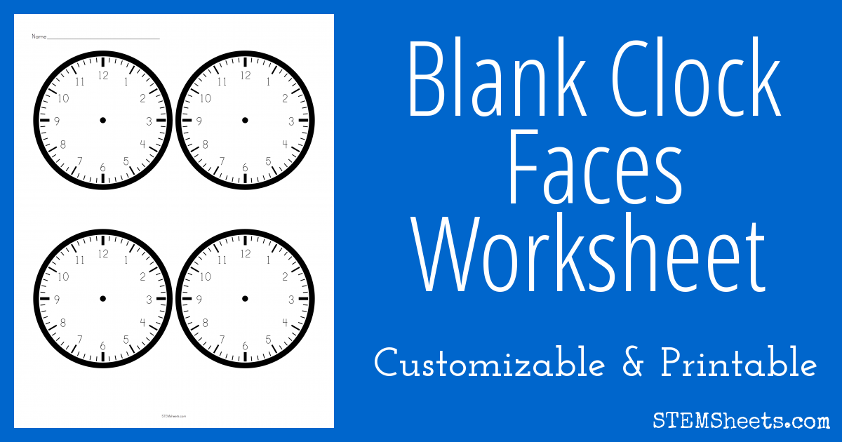 Blank Clock Faces Worksheet – Blank Clock Worksheet