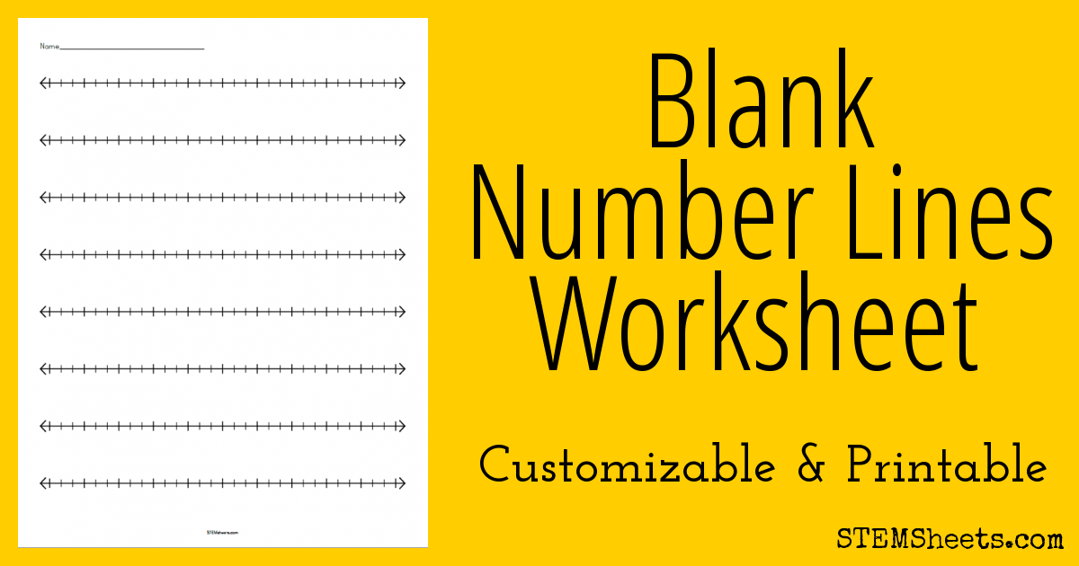 graphic relating to Printable Blank Number Lines named Blank Range Strains Worksheet STEM Sheets