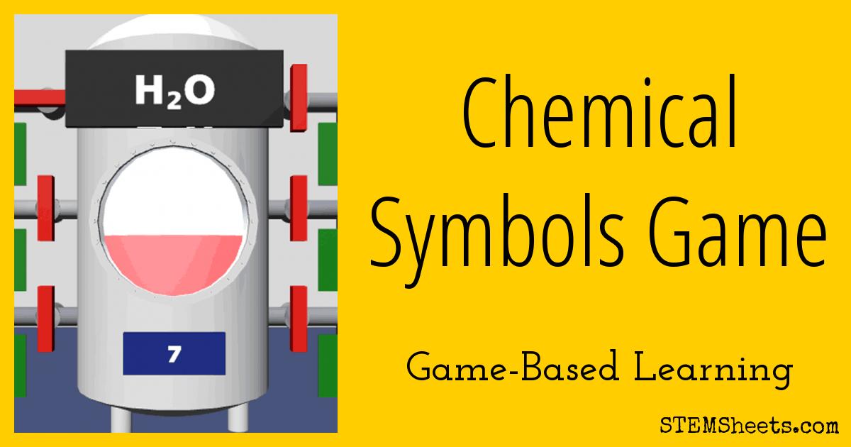 Chemical Symbols Game Stem Sheets