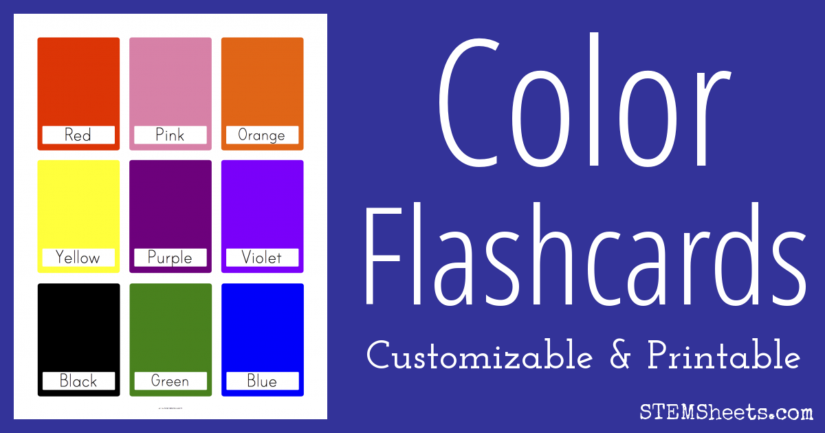 picture about Colors Flashcards Printable identified as Colour Flash Playing cards STEM Sheets