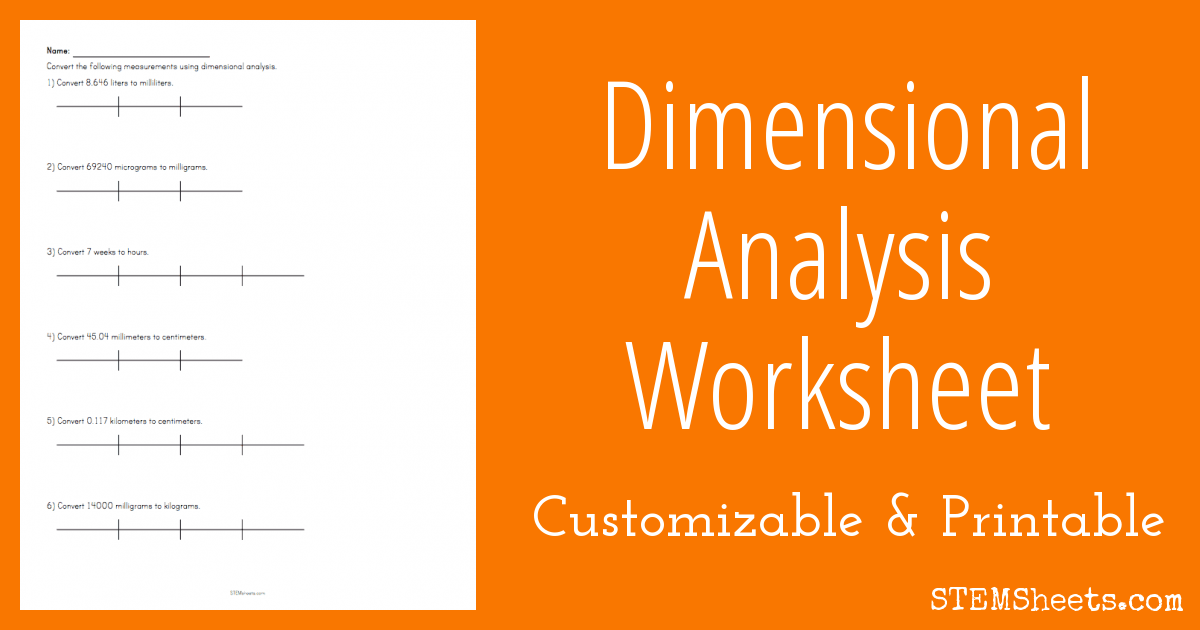 Dimensional Analysis Worksheet – Dimensional Analysis Problems Worksheet
