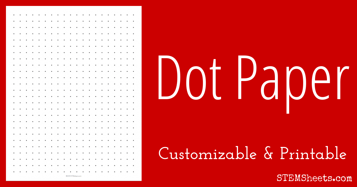 image about A5 Dot Grid Printable identified as Customizable Dot Paper STEM Sheets