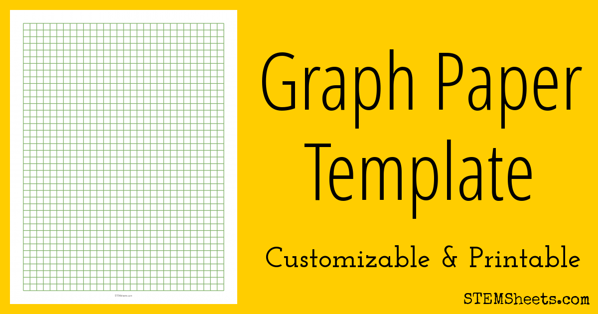 Printable Grid Paper Template | Graph Paper Template Stem Sheets