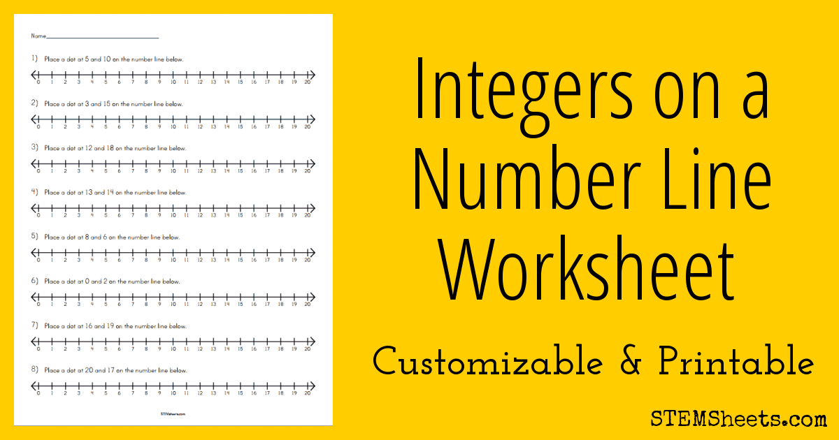 graphic regarding Printable Integers Number Line known as Integers upon a Quantity Line Worksheet STEM Sheets