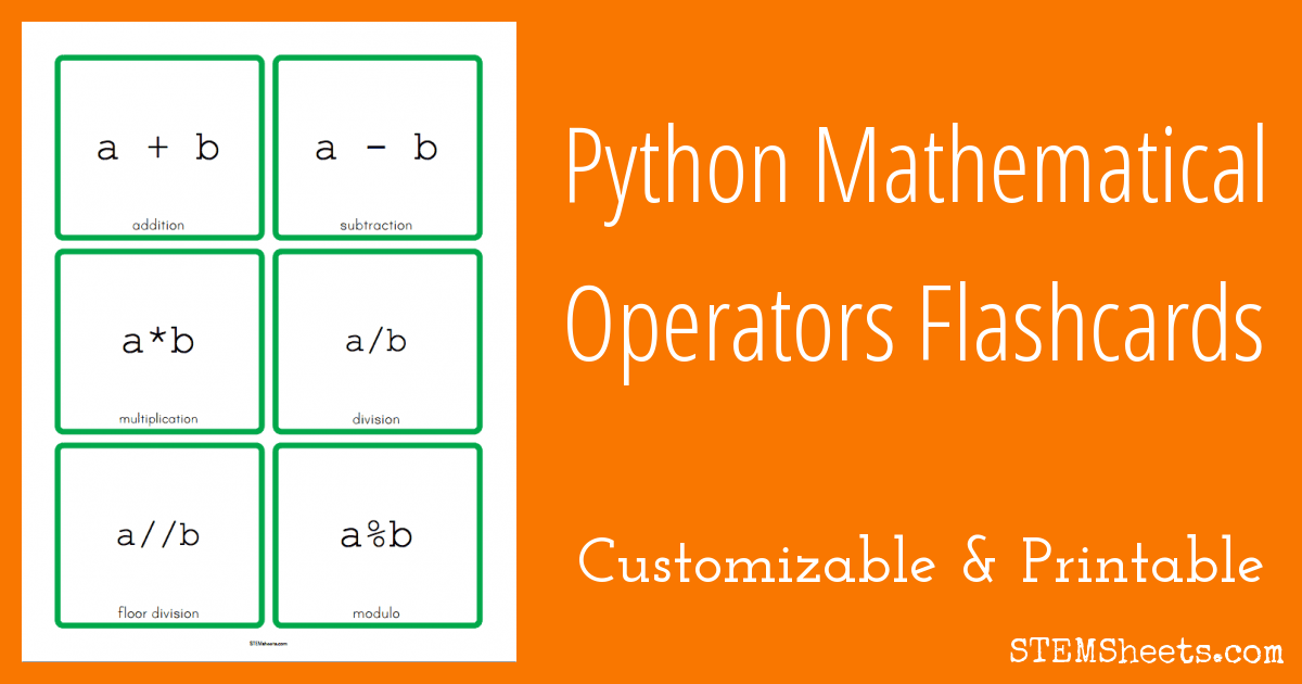 python mathematical operators flashcards