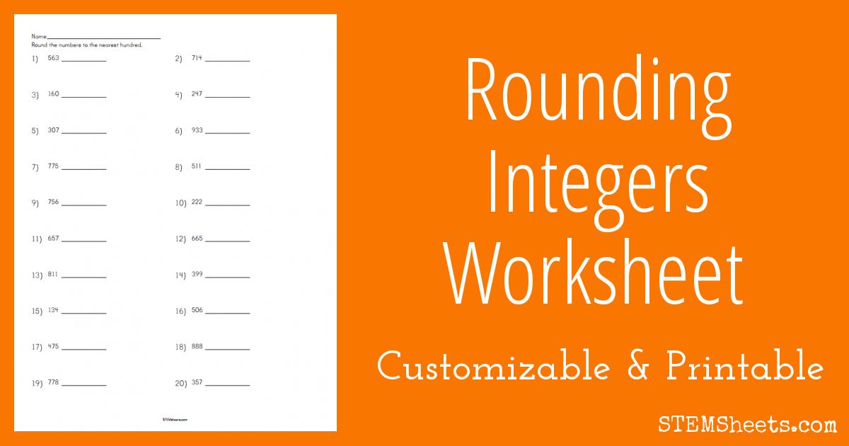 rounding integers worksheet stem sheets. Black Bedroom Furniture Sets. Home Design Ideas