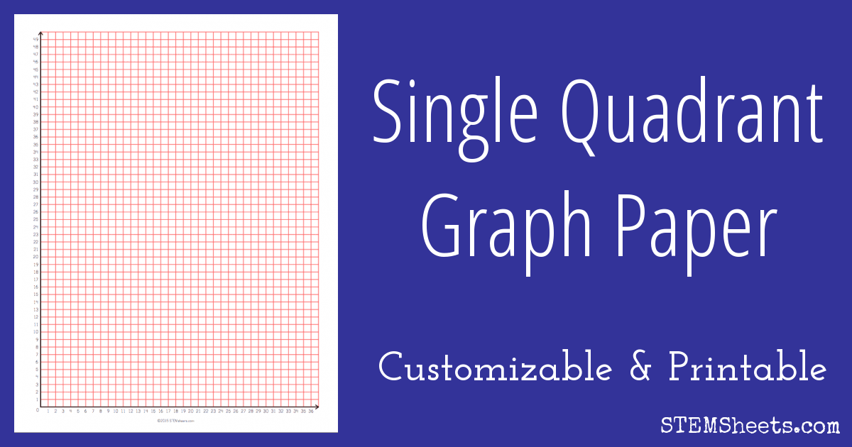 single quadrant graph paper