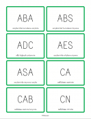 Plastic Material Abbreviations Flashcards
