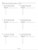 More printable math resources stem sheets for Stem and leaf plot template