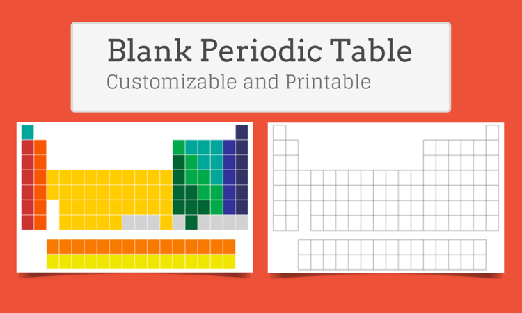 Blank Periodic Table of Elements - Customize and Print