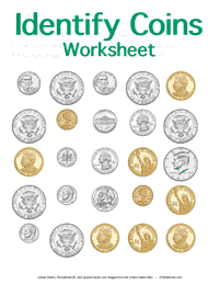 """Identifying Coins Worksheet - Customizable"" icon"