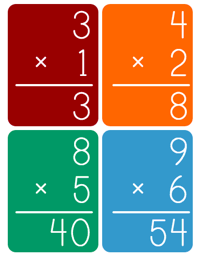 """Multiplication Flash Cards - Customizable"" icon"