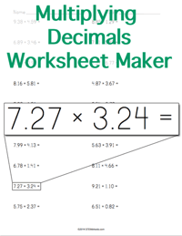 math worksheet : multiplication flash cards  printable  stem sheets : Worksheets Multiplying Decimals