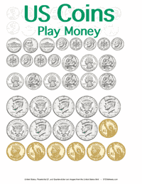 Printable Play Money <small>Coins</small>